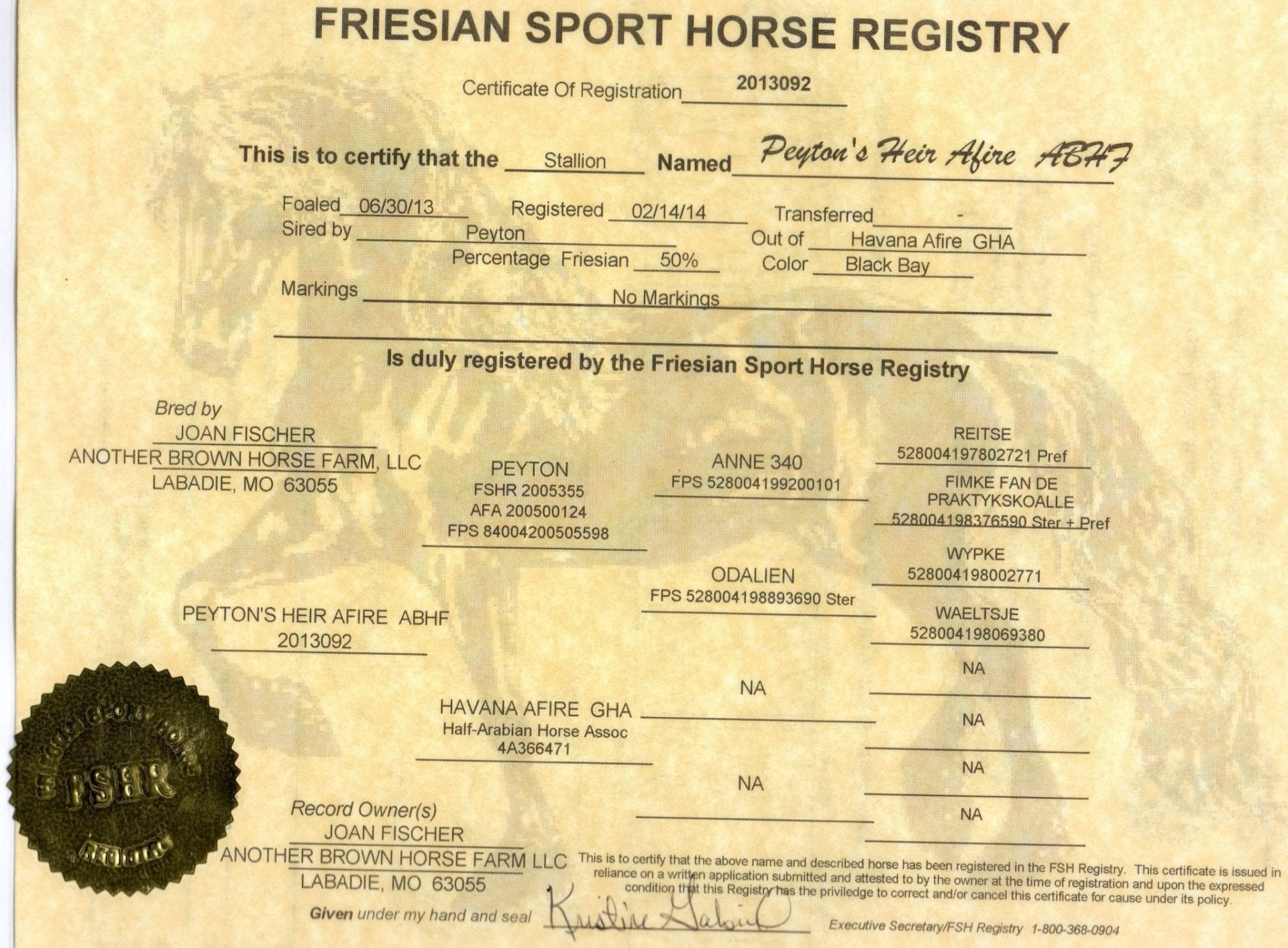 Tyrion's registration